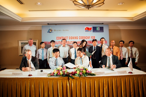 Vietsovpetro signed the contract with Hoang Long JOC on O&M of H5-WHP